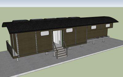 Spiegelglasfonds doneert 1500 euro voor sanitair-wagon