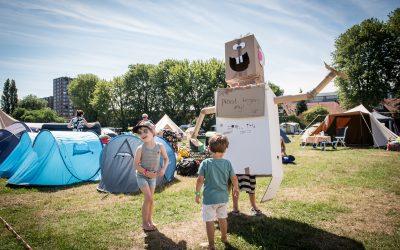 Tilburgers verblijven weekend lang in Spoorpark tijdens De Buurtcamping