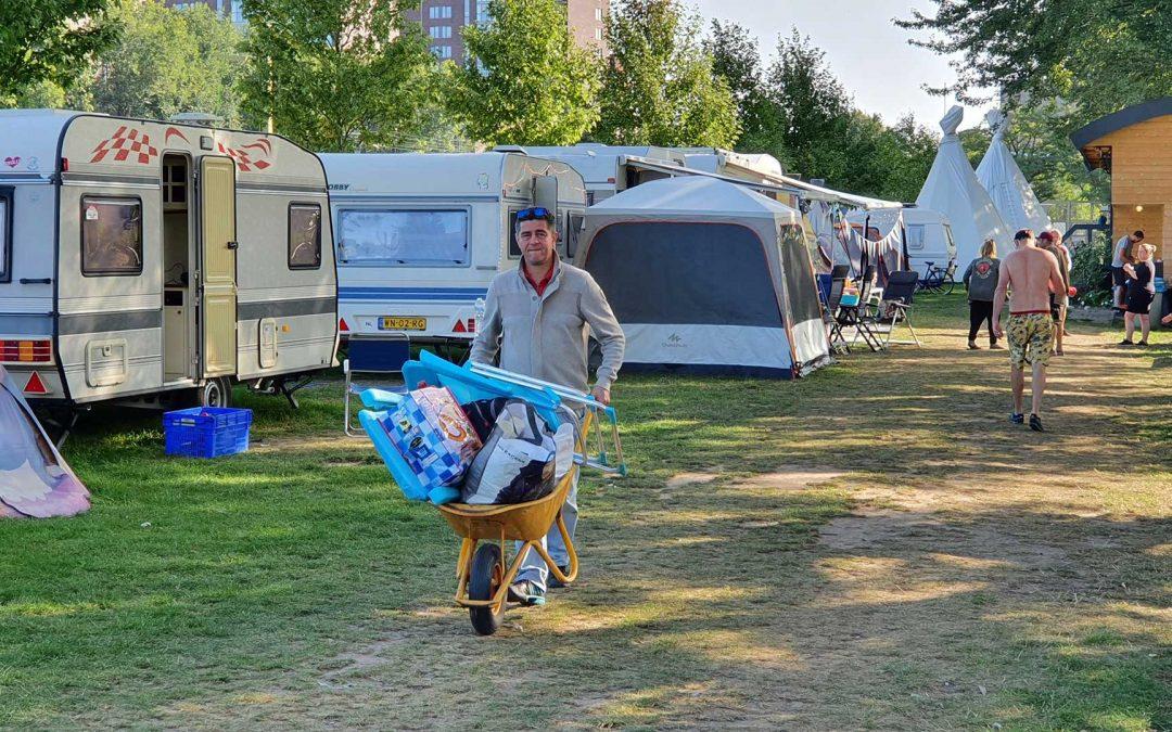 Veel Tilburgers kamperen in eigen stad
